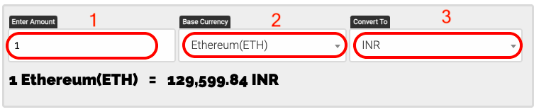 How to Convert ETH To INR