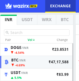 How to Trade on WazirX