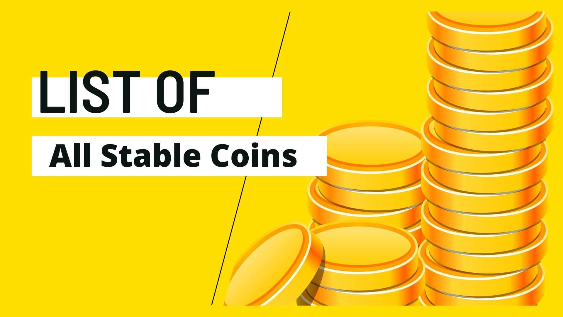 List of all stable coins