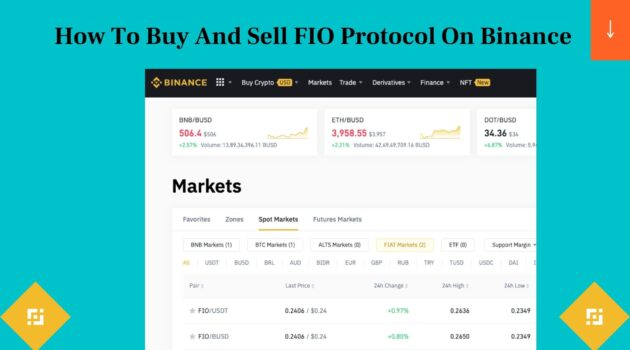 How To Buy And Sell FIO Protocol On Binance