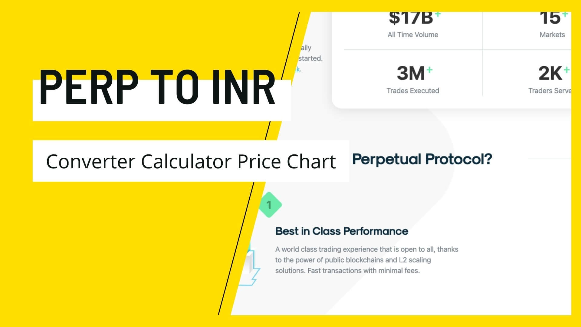 Perpetual Protocol PERP to INR Price Converter Calculator Chart